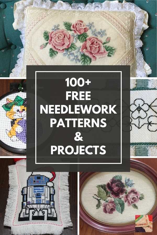 600+ Free Needlework Patterns and Projects