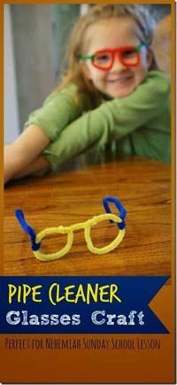 Nehemiah Pipe Cleaner Glasses Craft