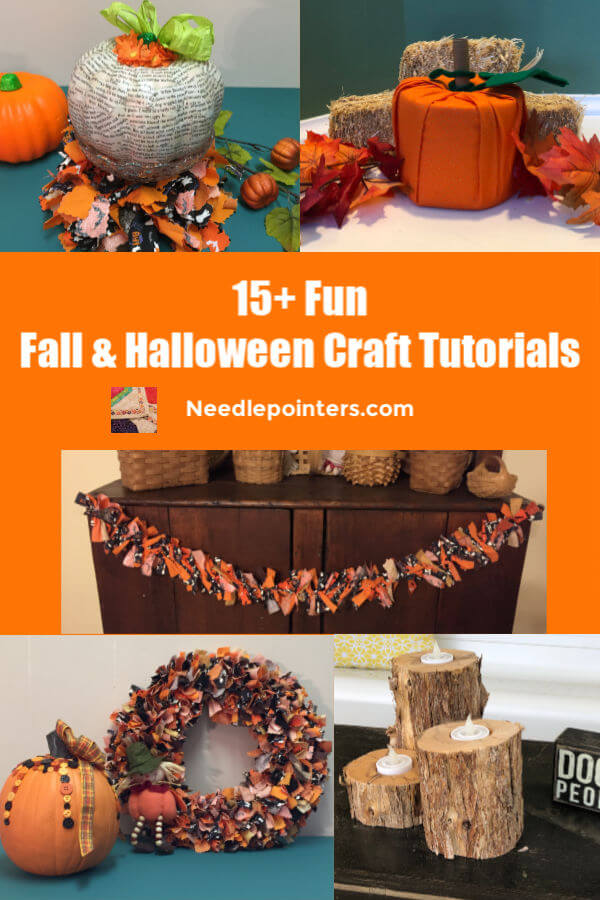 15+ Fall and Halloween Crafts Decor pin