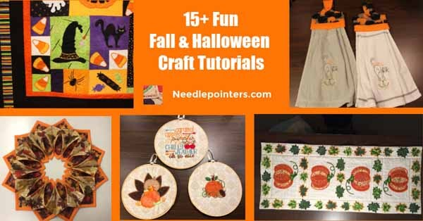 15+ Fall and Halloween Crafts Machine Embroidery fb