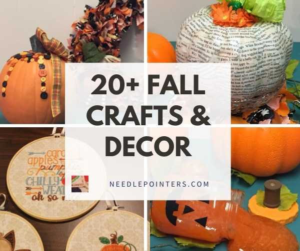 20+ Fall and Halloween Crafts Decor fb
