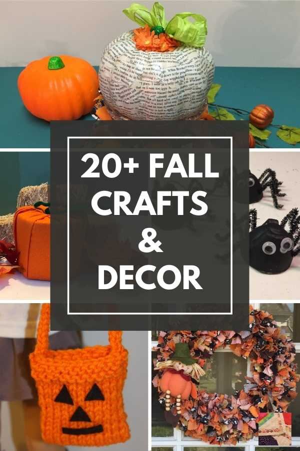 20+ Fall and Halloween Crafts - pin