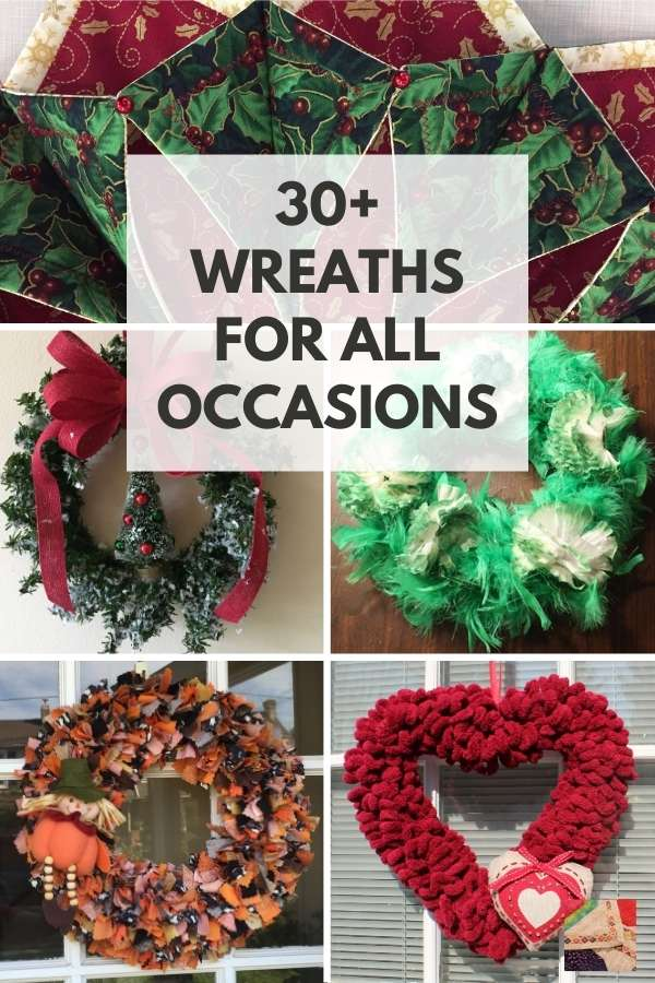 Free Ideas for 30+ All Occasion Wreaths