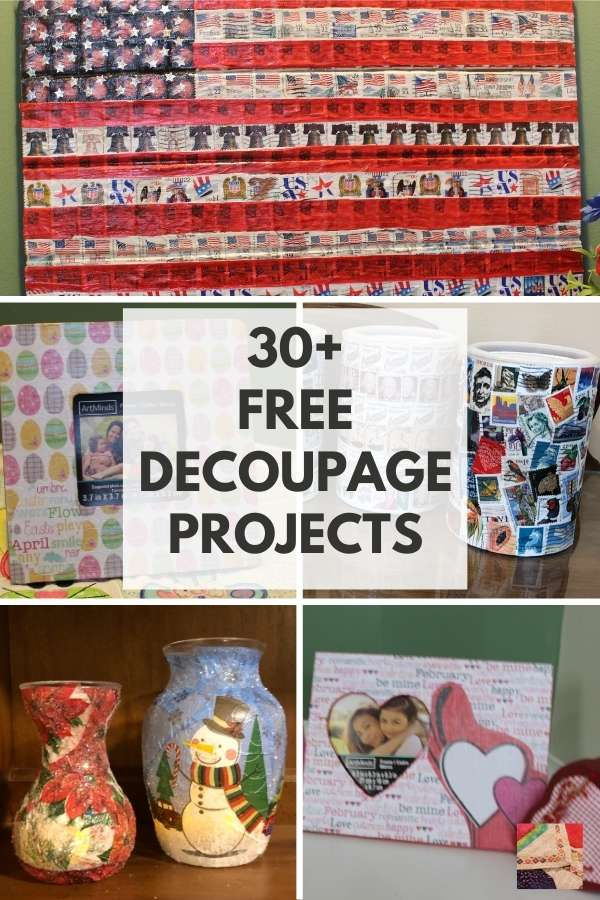 Over 30 Free Modern Mod Podge Decoupage Ideas and Projects