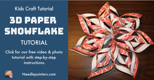 Learn Make a 3D Paper Snowflake - facebook ad