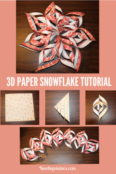 3D Paper Snowflake Tutorial - Pin w/Steps