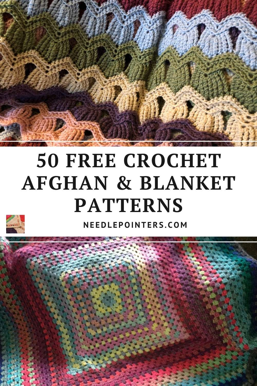 Over 50 FREE Patterns for Crochet Afghans and Blankets