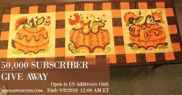 50,000 Subscriber Prize, Pumpkin Table Runner