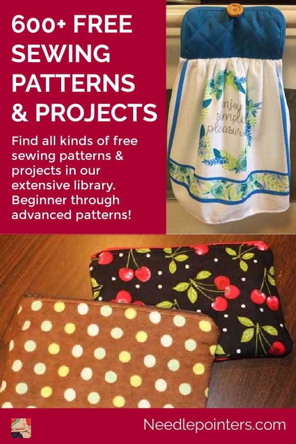 OVER 600 FREE SEWING PROJECTS AND PATTERNS