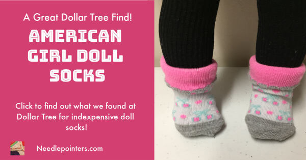 American Girl Doll Socks, Dollar Tree Find