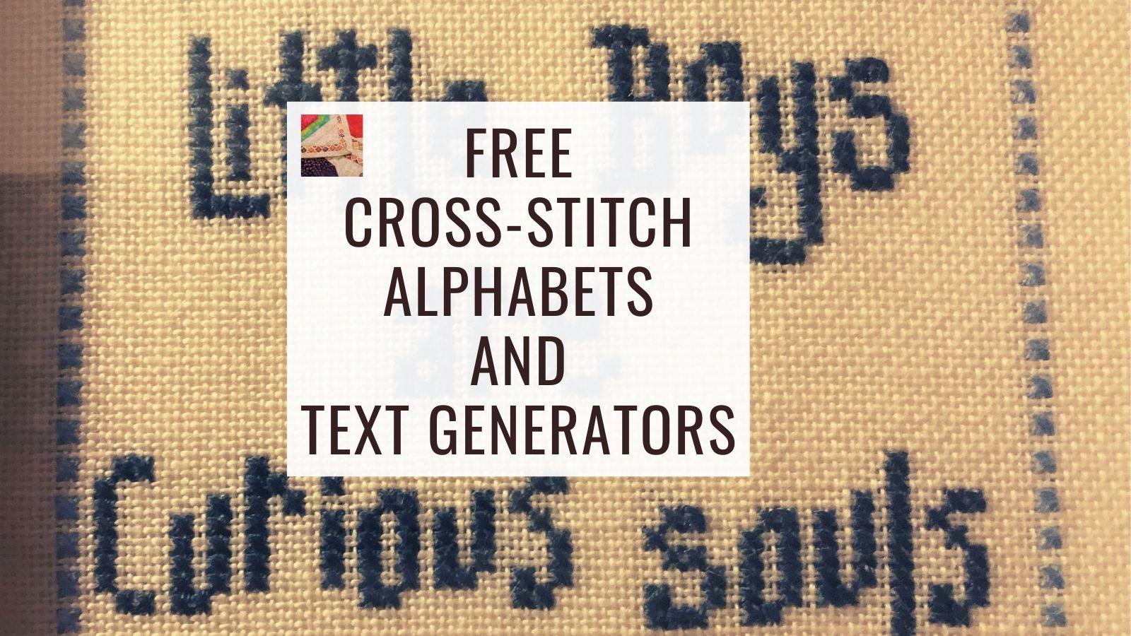 Free Cross Stitch Alphabet Patterns Text Generators Needlepointers Com