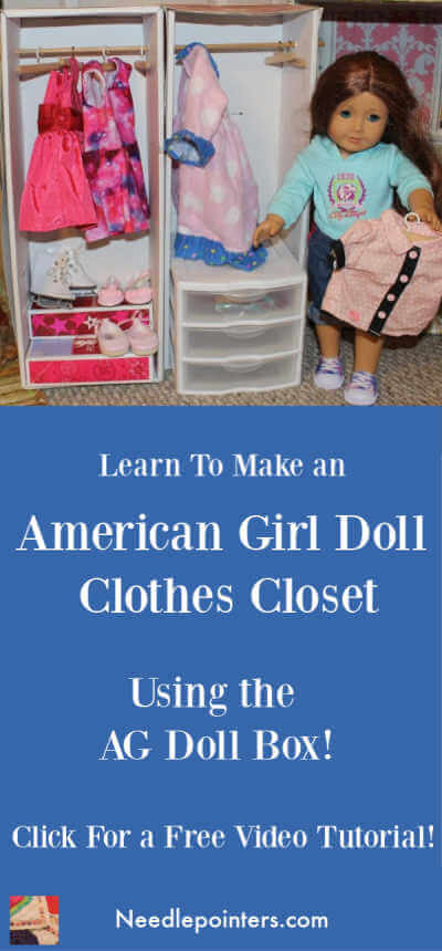 American Girl Doll Clothes Closet Tutorial