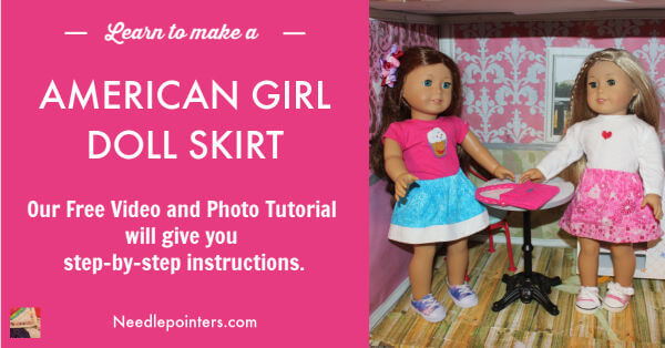 How to make a skirt for your American Girl Doll