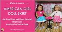 "Doll Skirt for 18"" or American Girl Doll"