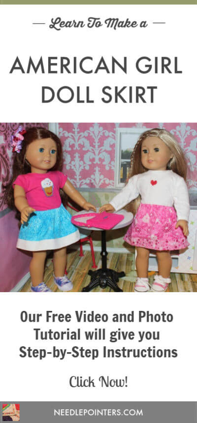 How to make a skirt for your American Girl Doll - Pin