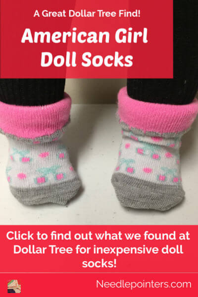 American Girl Doll Socks - Pin