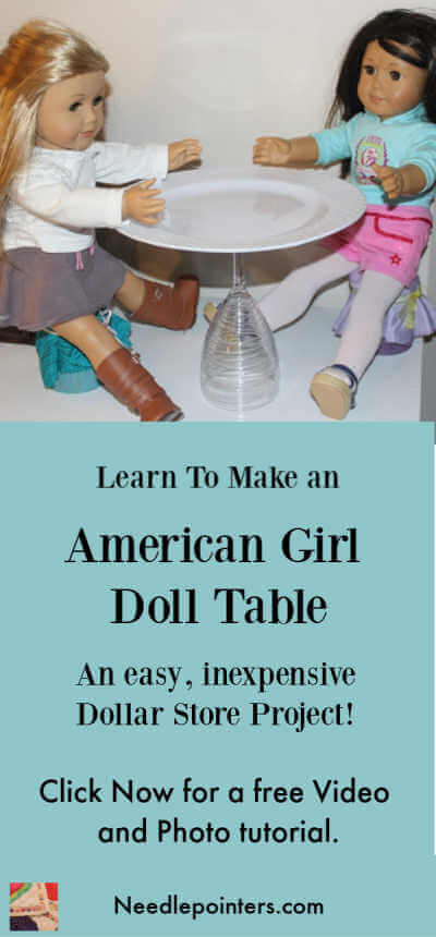 18 inch Doll Table