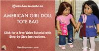 American Girl Doll Tote Bag