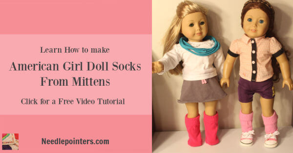 How to make socks for your doll from mittens