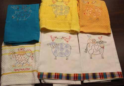 Animal Stackers Machine Embroidered Towels