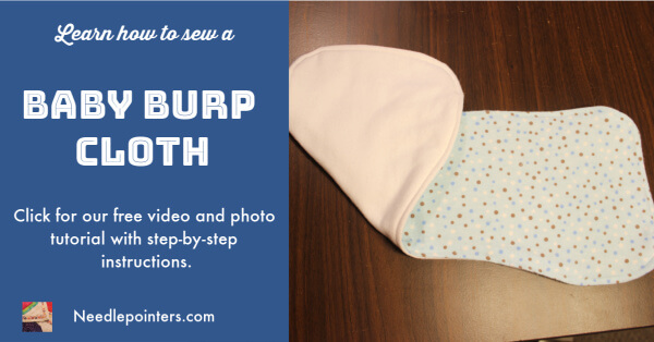 Baby Burp Cloth Tutorial -  Facebook