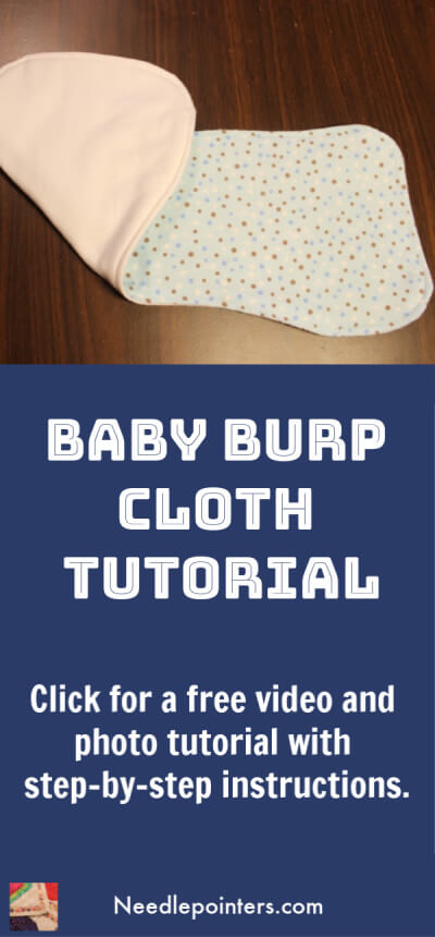 Baby Burp Cloth Tutorial - Pin