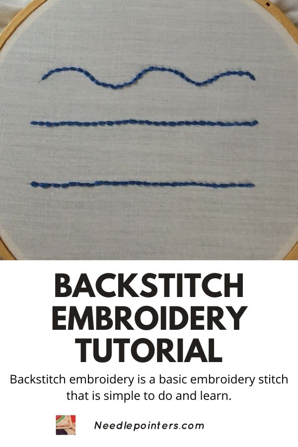 Backstitch Embroidery Tutorial - pin