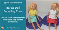 Barbie Doll Bean Bag Chair (A Dollar Store Craft)