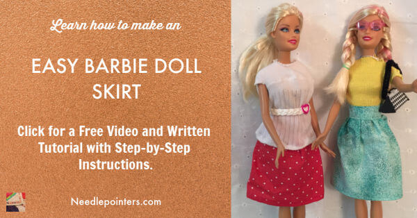 Easy Barbie Doll Skirt Tutorial