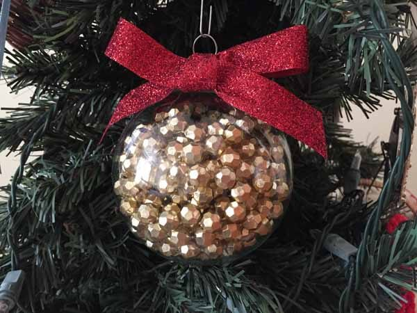 Bead Garland Christmas Ornament - Hanging