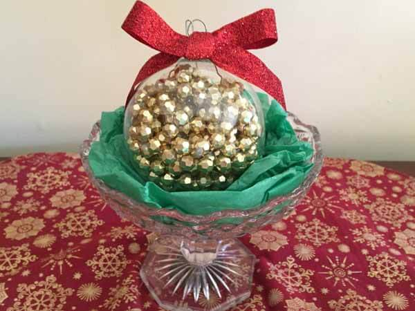Bead Garland Christmas Ornament - In Bowl