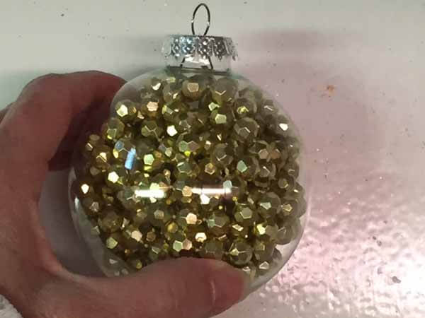 Bead Garland Christmas Ornament - Replace Cap