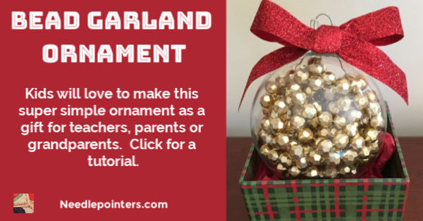 Bead Garland Christmas Ornament - facebook
