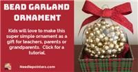 Bead Garland Christmas Ornament