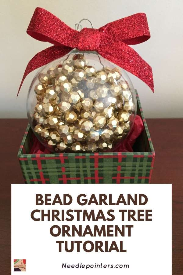 Bead Garland Christmas Tree Ornament - pin