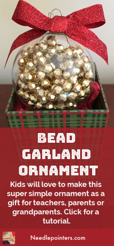 Bead Garland Christmas Ornament - pin