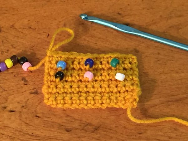 Beaded Single Crochet Tutorial - Finished Beads