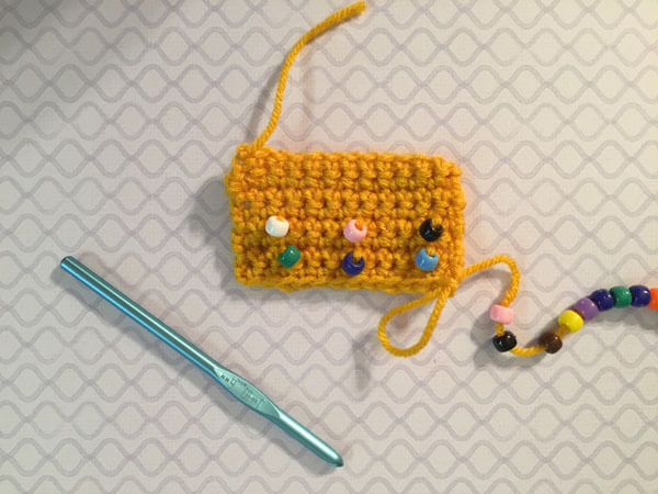 Beaded Single Crochet Tutorial - Finished Beads 2