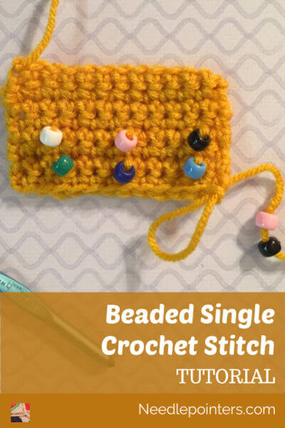 Beaded Single Crochet Tutorial - Pin