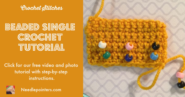 Beaded Single Crochet Tutorial - Facebook Ad