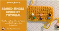 Beaded Single Crochet Stitch