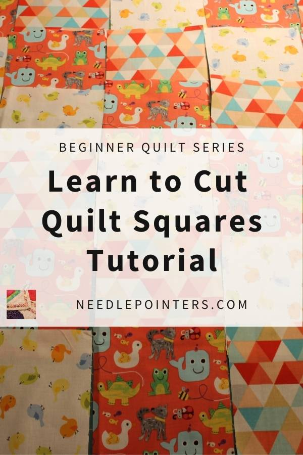 Beginner Quilt Series - Cut the Blocks - pin