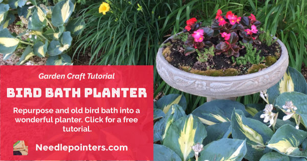 Bird Bath Planter - Facebook Ad