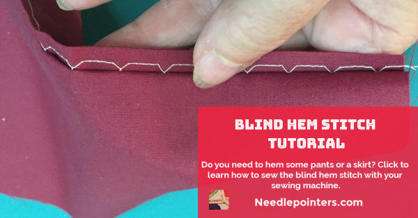 Blind Hem Stitch Tutorial - facebook