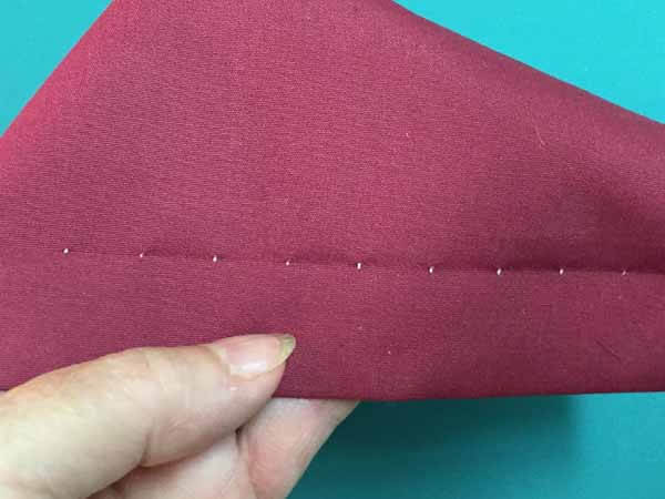 Blind Hem Stitch Tutorial - Front Side of Stitching