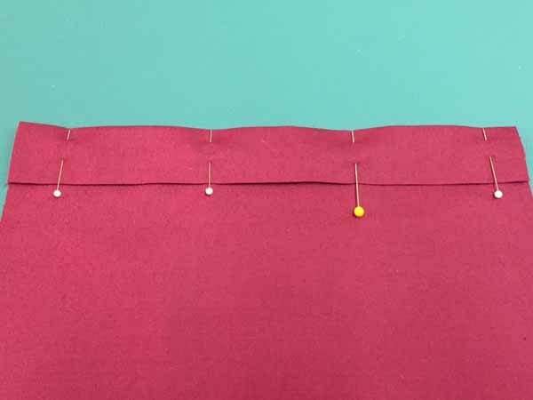 Blind Hem Stitch Tutorial - Pinned