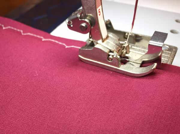 Blind Hem Stitch Tutorial - Stitching