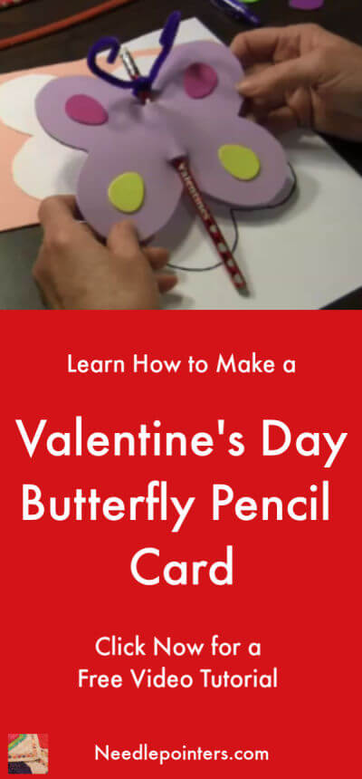 Valentine's Day Butterfly Pencil Card