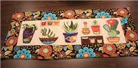 Cactus and Succulents Table Runner Pattern