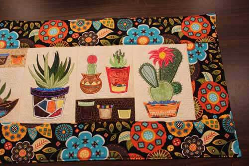 Cactus and Succulents Table Runner